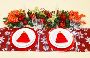 4 passos para a montagem de uma mesa de natal