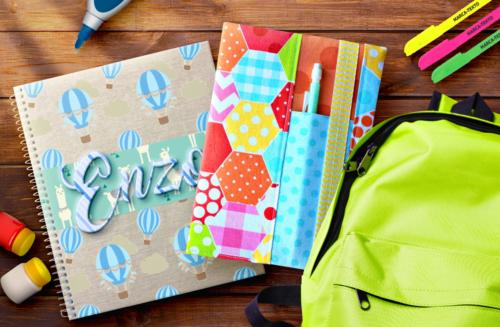 Como personalizar a capa do caderno das crianças