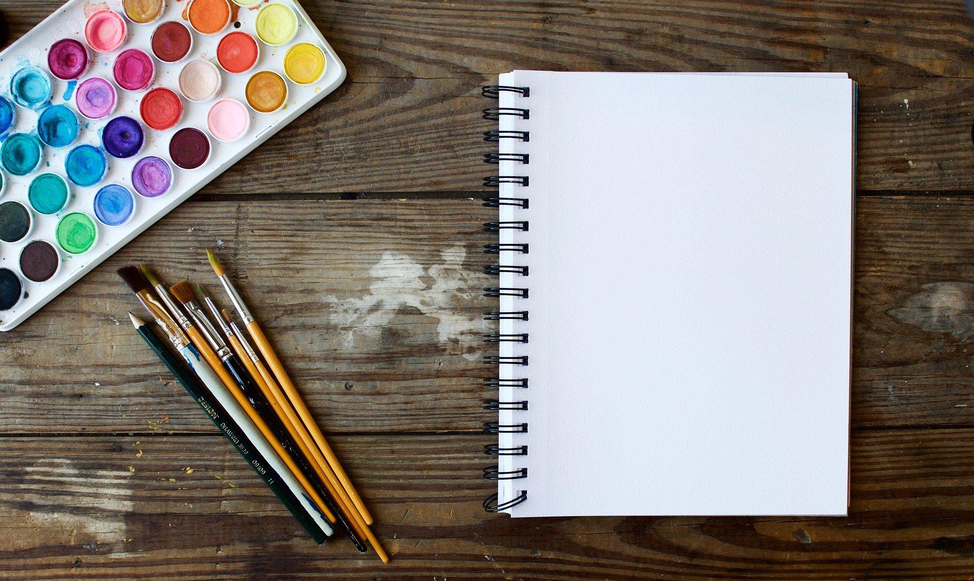 Capa de caderno em branco