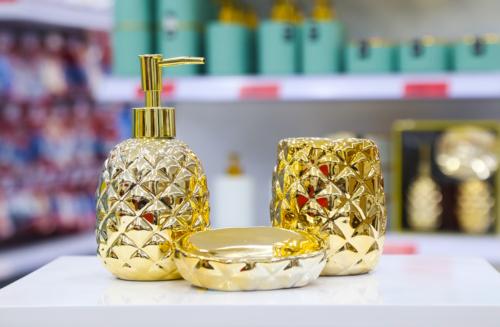 Conjunto para Banheiro Abacaxi Mimo Style