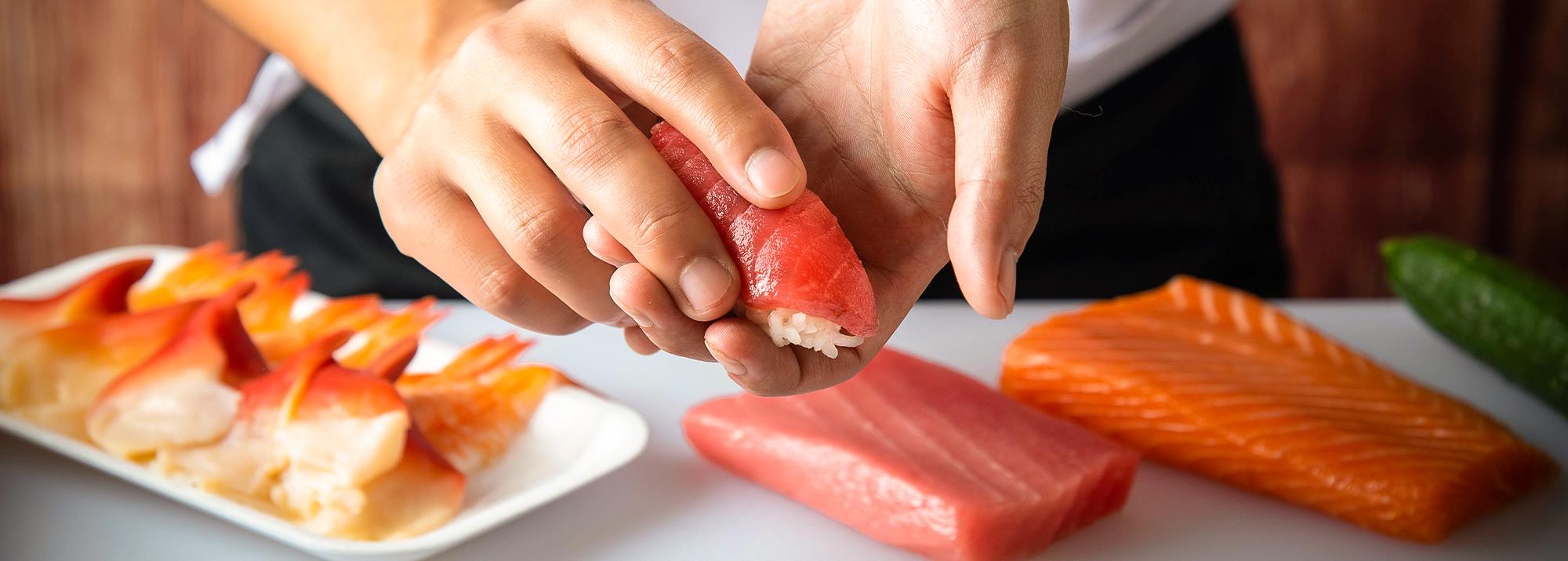 Passo a passo para fazer Sushi