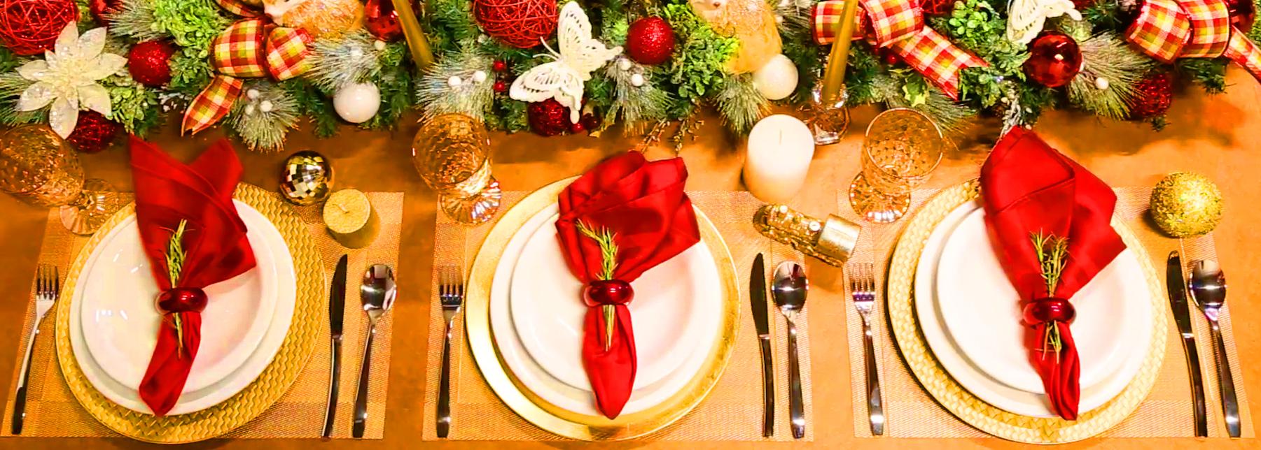 Aprenda como montar uma linda mesa posta para este Natal