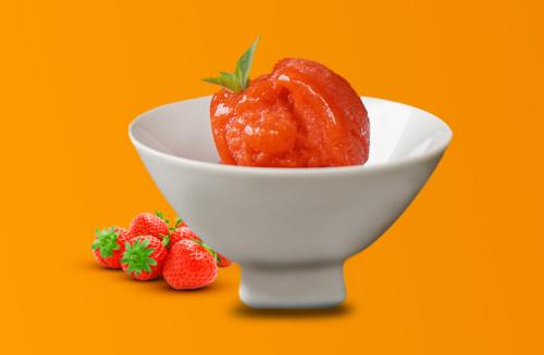 Aprenda a fazer uma receita de Sorbet de Morango para se refrescar nesse verão